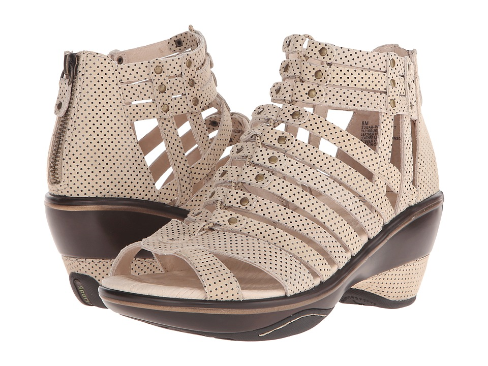 Jambu - Sugar - Polka Dot (Beige/Black Polka Dot) Women's Wedge Shoes