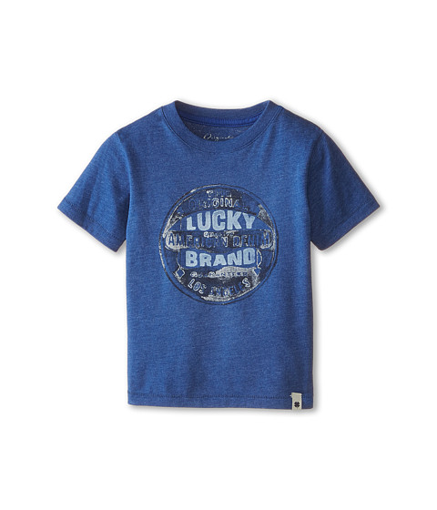 Lucky Brand Kids - Original Tee (Toddler) (Heather Blue) Boy