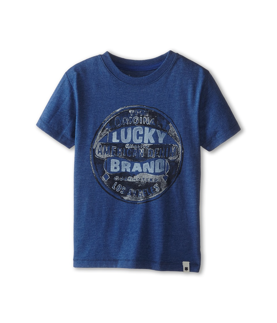 Lucky Brand Kids - Original Tee (Little Kids/Big Kids) (Heather Blue) Boy