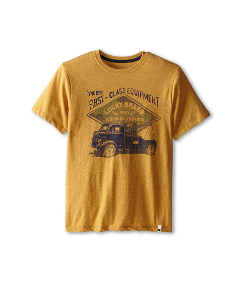 Lucky Brand Kids - Class Equipment Tee (Big Kids) (Wheat) Boy