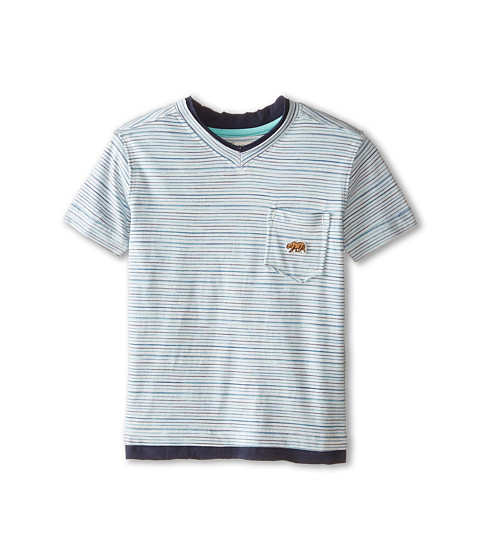 Lucky Brand Kids - Bearing Raw Edges Tee (Toddler) (Turtledove) Boy
