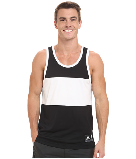 adidas - Made in March Tank Top (Black/White) Men's Sleeveless