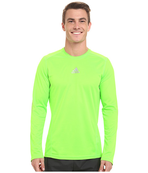 adidas - Sequentials Long Sleeve Running Tee (Solar Green) Men
