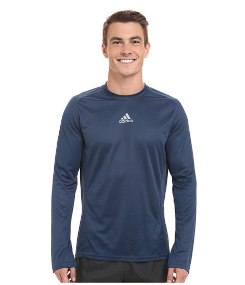 adidas - Sequentials Long Sleeve Running Tee (Rich Blue) Men