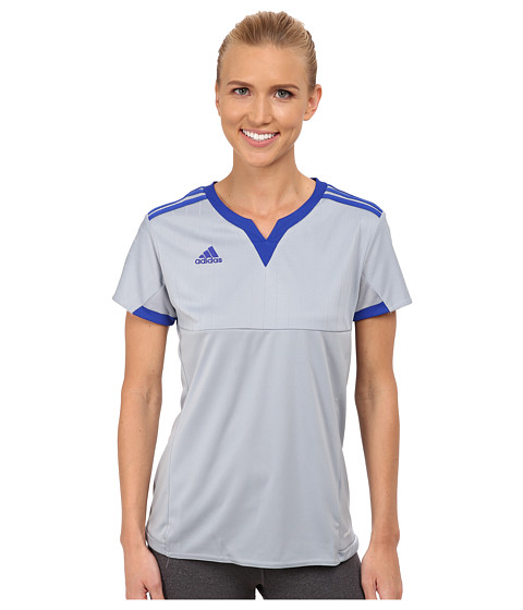 adidas - Tiro 13 Jersey (White/Bold Blue) Women's Clothing
