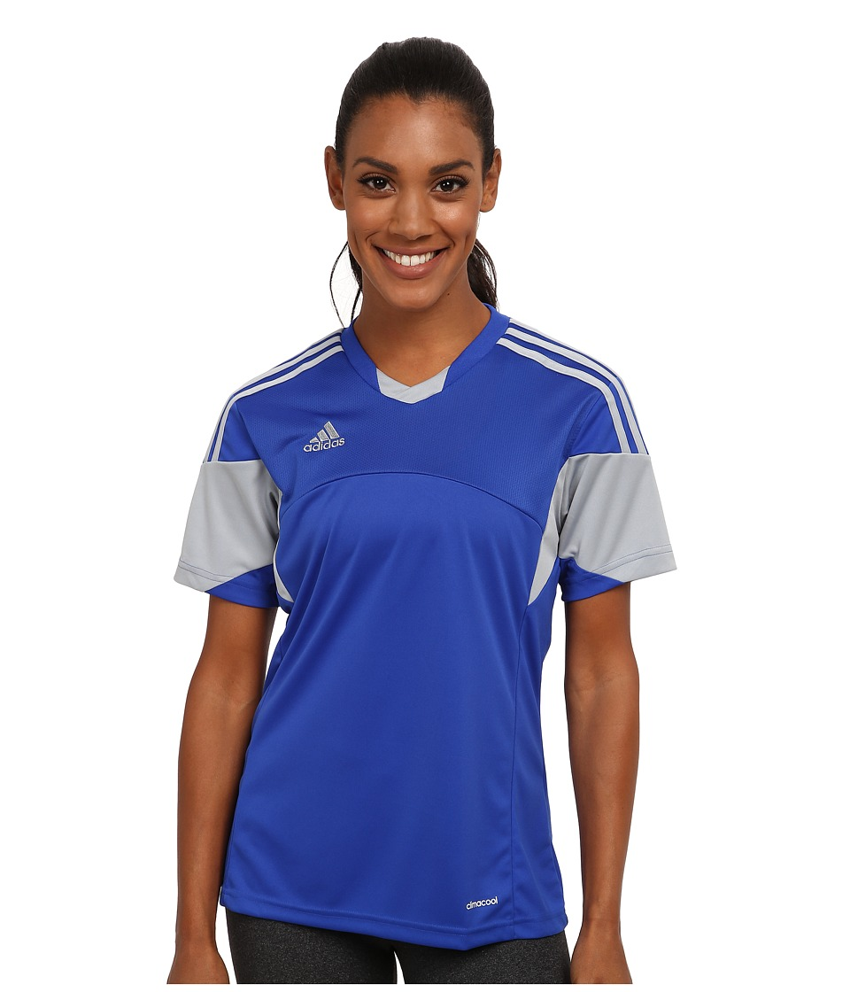 adidas - Tiro 13 Jersey (Bold Blue/Light Grey) Women's Clothing