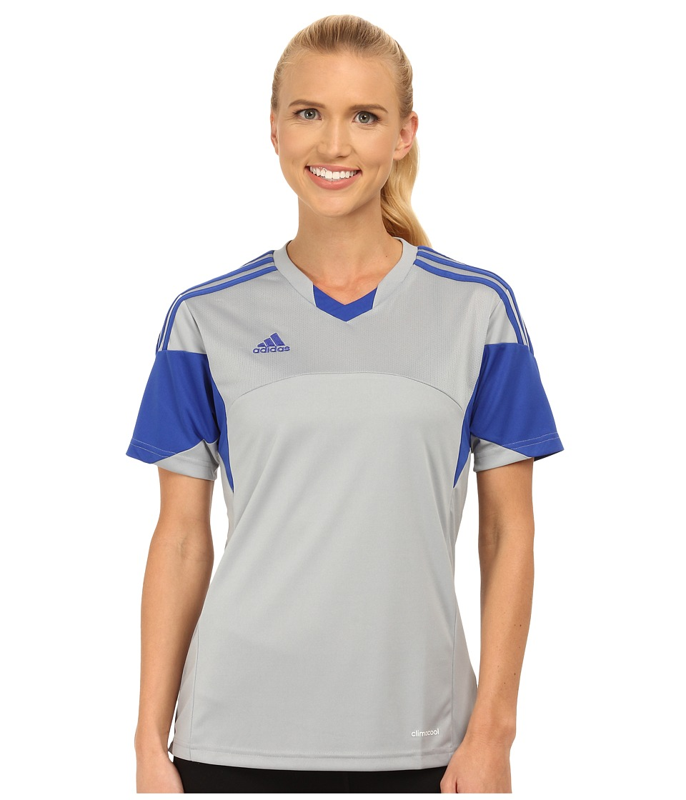 adidas - Tiro 13 Jersey (Light Grey/Bold Blue) Women's Clothing