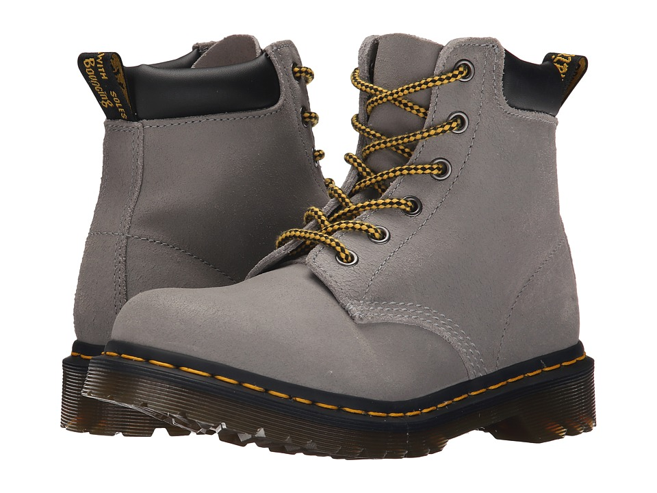 Dr. Martens - 939 6-Eye Hiker Boot (Concrete Greasy Suede) Women's Lace-up Boots