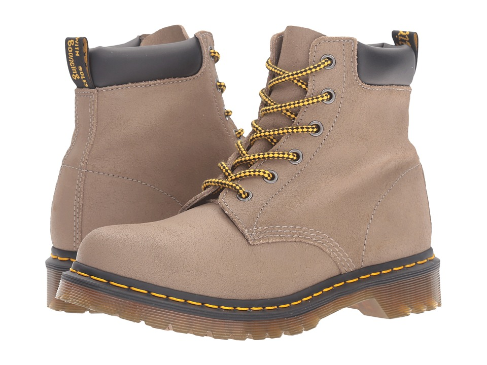 Dr. Martens - 939 6-Eye Hiker Boot (Khaki Greasy Suede) Women's Lace-up Boots