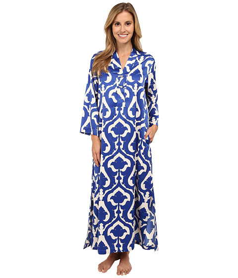 N by Natori - Tapestry Caftan (Deco Blue) Women