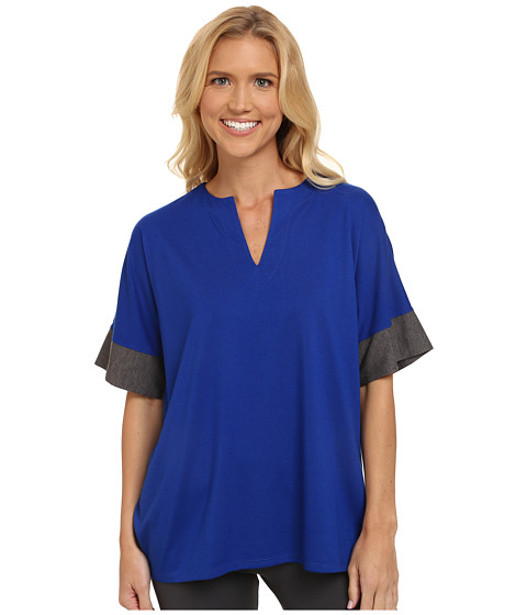 N by Natori - N Natori Tunic Top (Deco Blue) Women