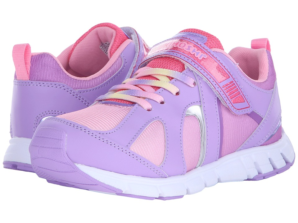Tsukihoshi Kids - Rainbow (Little Kid/Big Kid) (Lavender/Coral) Girls Shoes