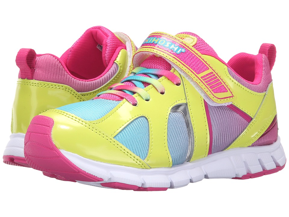 Tsukihoshi Kids - Rainbow (Little Kid/Big Kid) (Lime/Turquoise) Girls Shoes