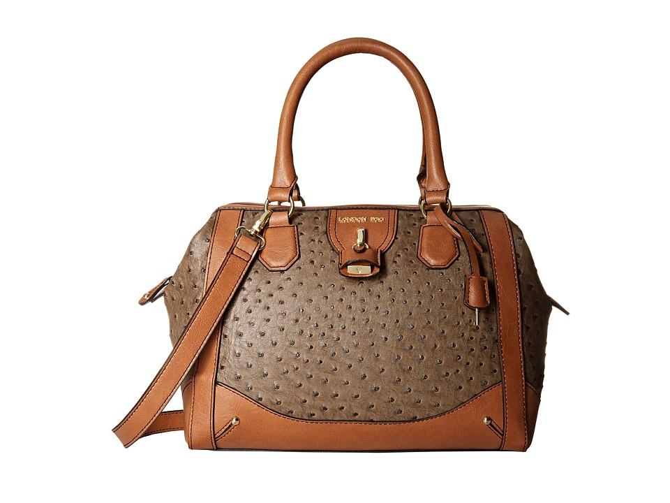 London Fog - Lark Frame Satchel (Mink Ostrich) Satchel Handbags