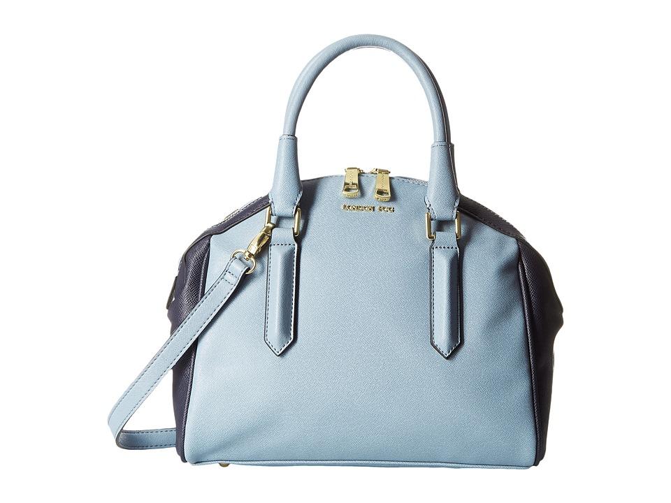 London Fog - Anise Satchel (Powder Blue) Satchel Handbags