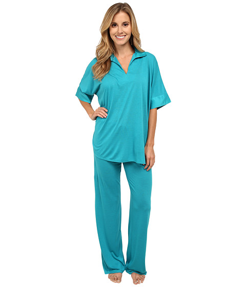 N by Natori - N Natori Tunic PJ (Teal Jade) Women's Pajama Sets