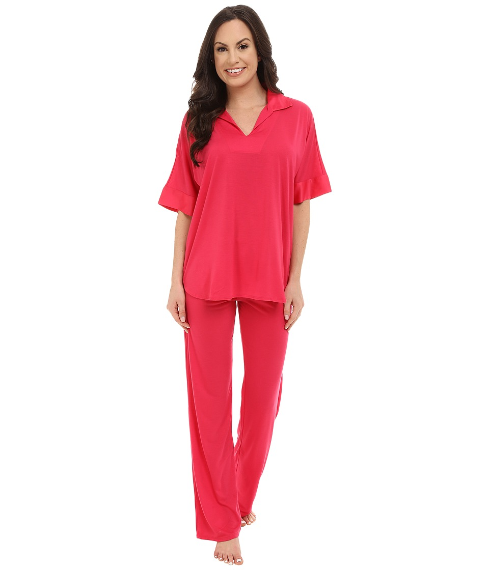 N by Natori - N Natori Tunic PJ (Hot Pink) Women's Pajama Sets
