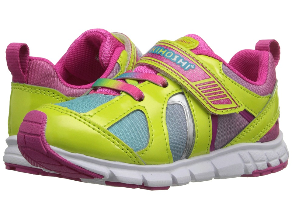 Tsukihoshi Kids - Rainbow (Toddler/Little Kid) (Lime/Turquoise) Girls Shoes