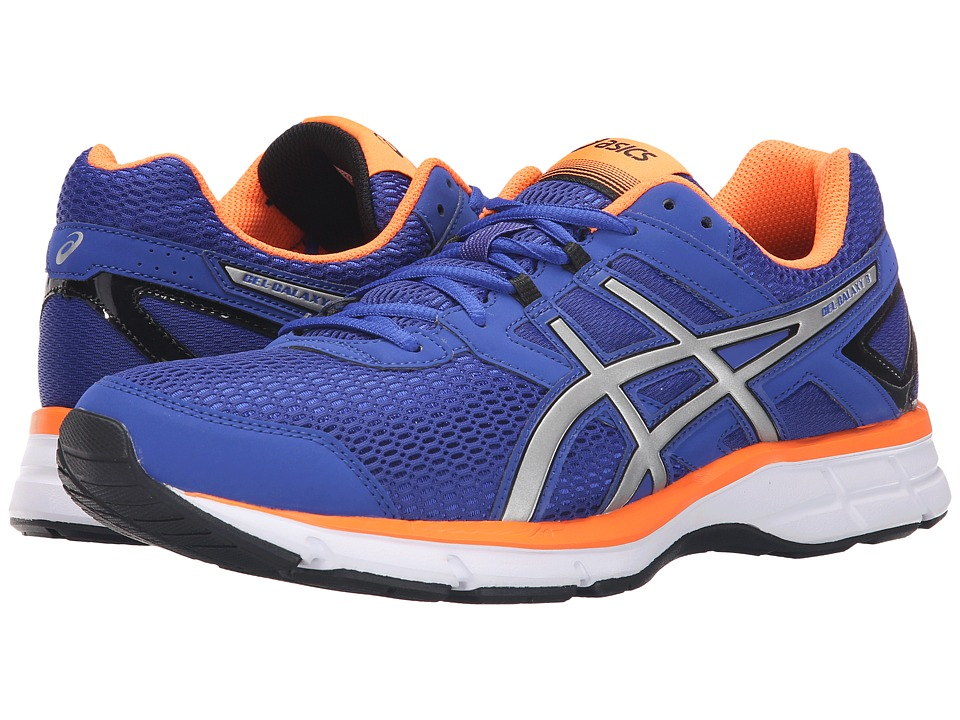 ASICS - Gel-Galaxy 8 (Asics Blue/Silver/Orange) Men
