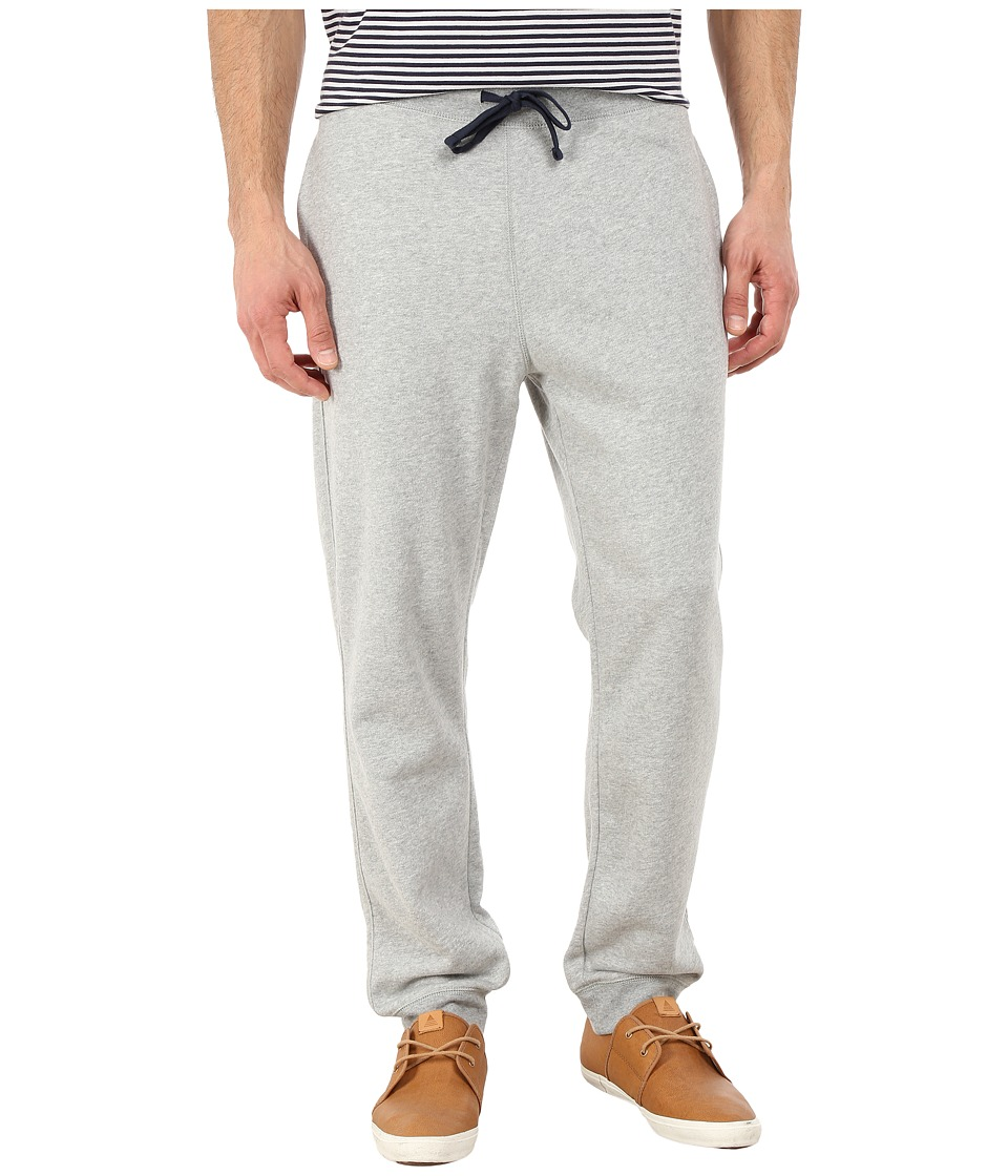 Nautica - Knit Pants w/ Rib Cuff (Grey Heather) Men's Casual Pants