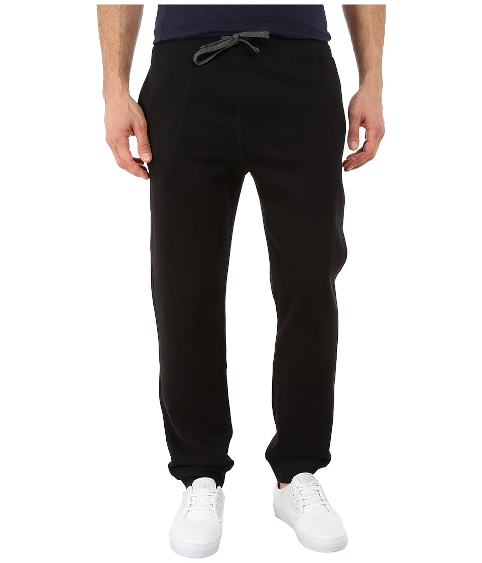 Nautica - Knit Pants w/ Rib Cuff (True Black) Men's Casual Pants