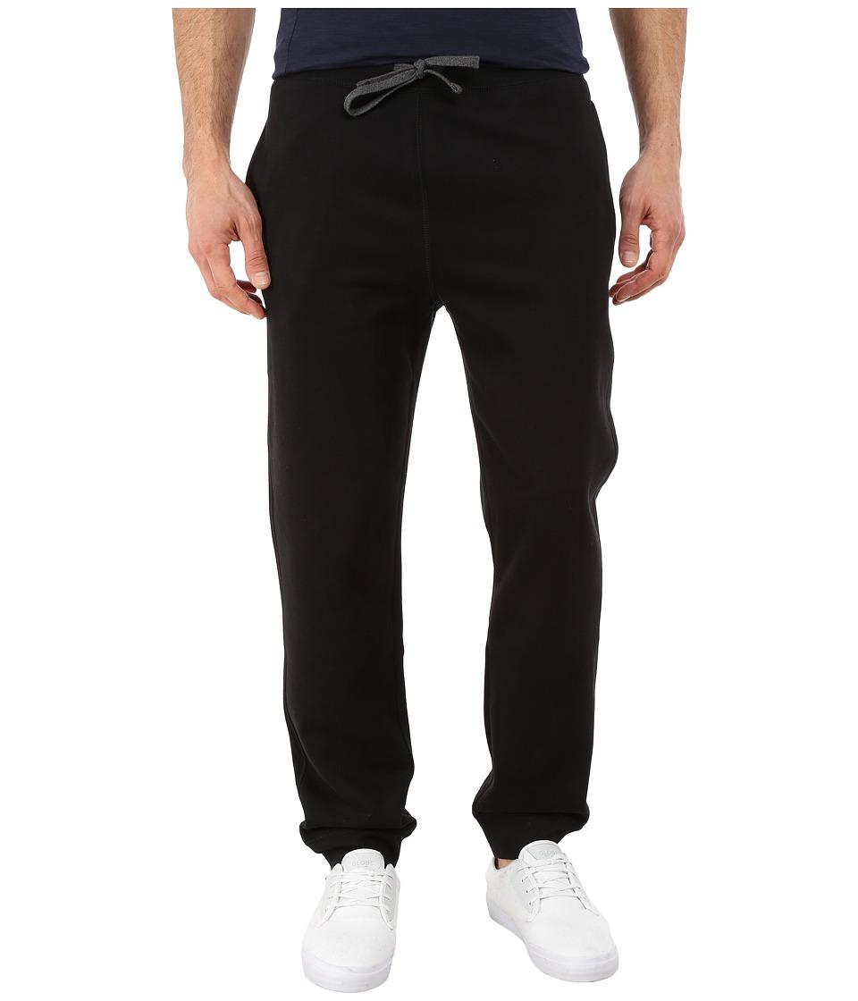 Nautica - Knit Pants w/ Rib Cuff (True Black) Men's Casual Pants