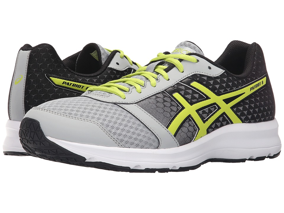 ASICS - Patriot 8 (Silver Grey/Lime/Black) Men