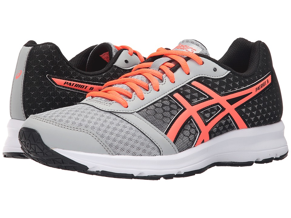 ASICS - Patriot 8 (Silver Grey/Flash Coral/Black) Women