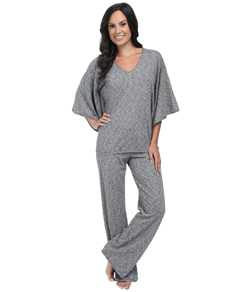 N by Natori - Slub Jersey PJ (Black) Women's Pajama Sets