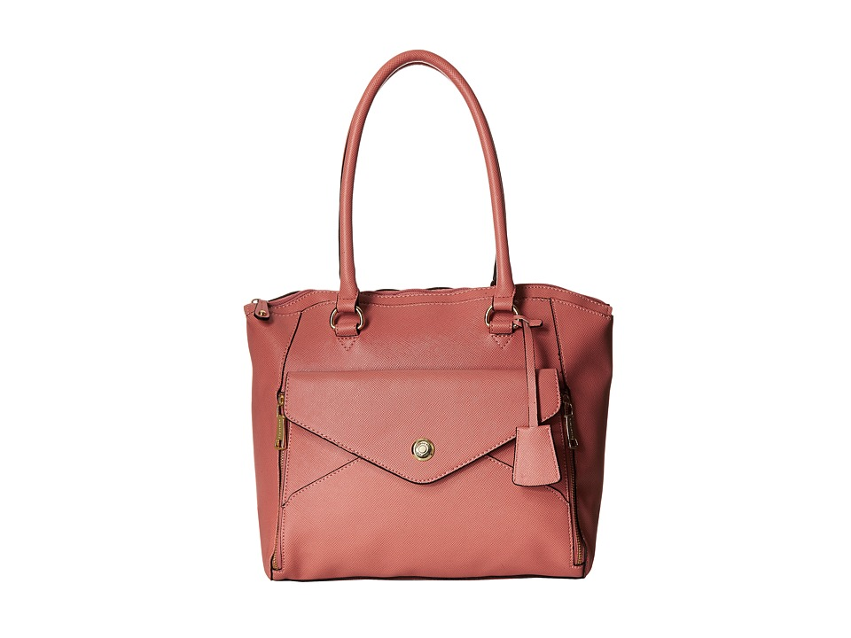 London Fog - Fenwick North/South Tote (Coral) Tote Handbags
