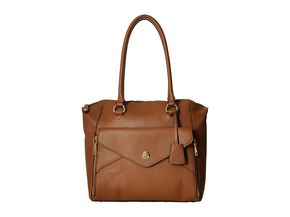 London Fog - Fenwick North/South Tote (Cognac) Tote Handbags
