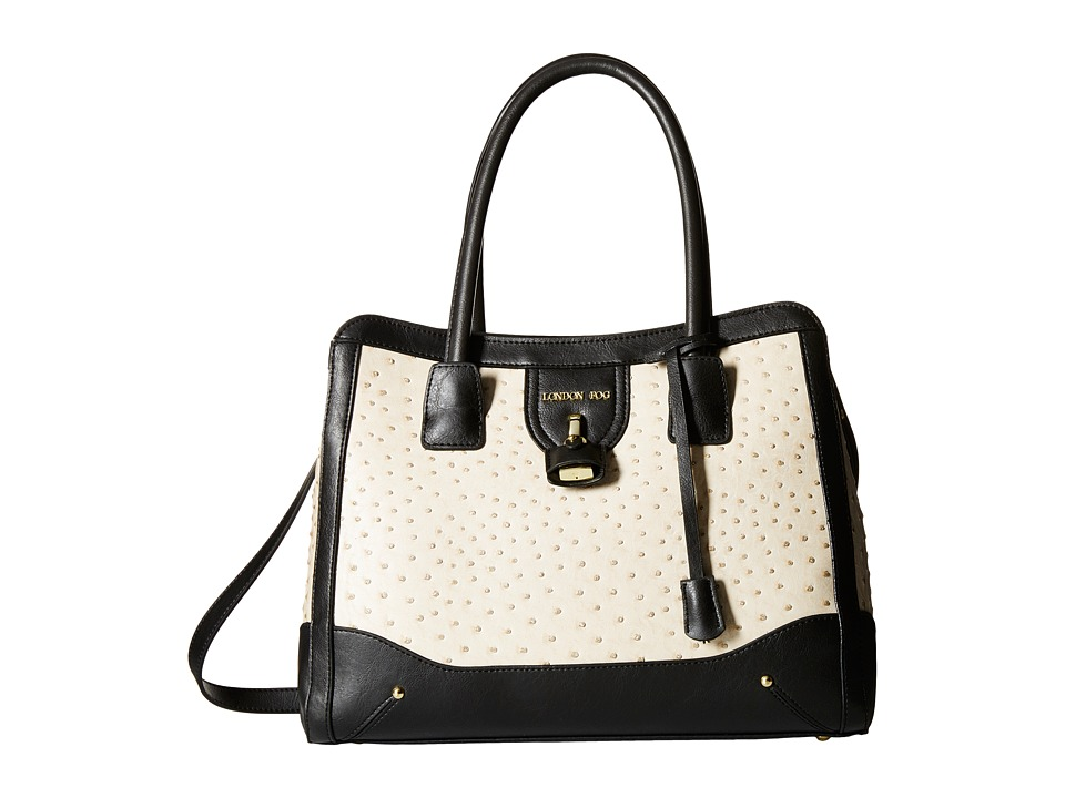 London Fog - Lark Tote (Ecru Ostrich) Satchel Handbags