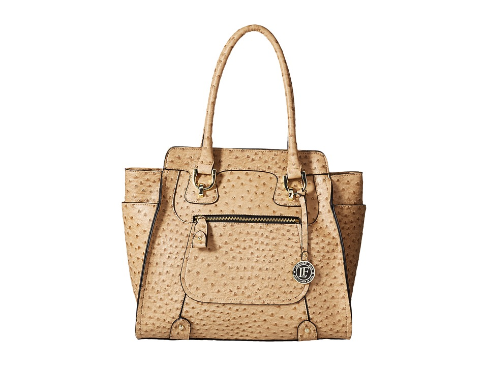 London Fog - Knightsbridge Tote (Sand Ostrich) Tote Handbags