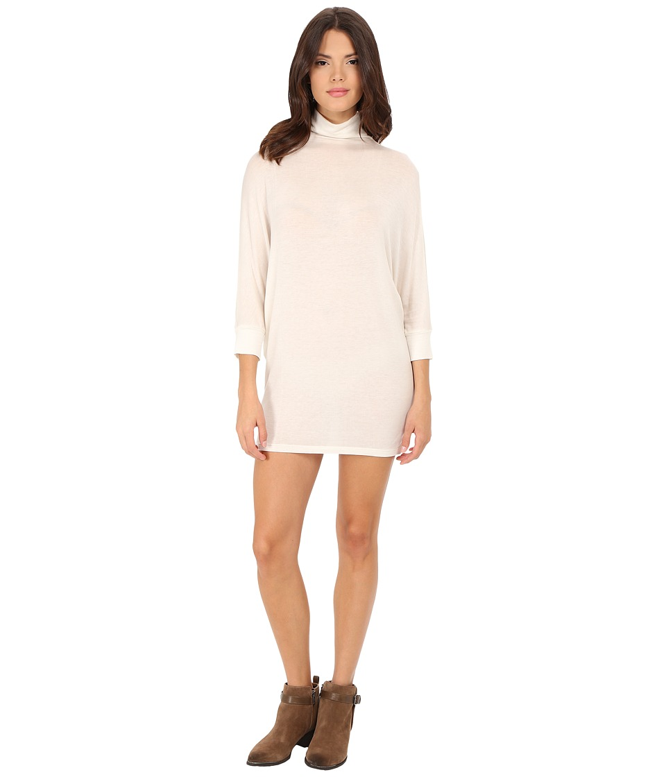 Velvet by Graham & Spencer - Shaylen Turtleneck Dress (Cream) Women's Dress