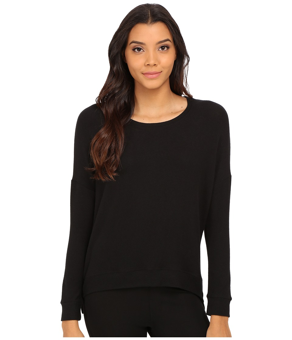 Velvet by Graham & Spencer - Stace Long Sleeve Side Zip Top (Black) Women's T Shirt