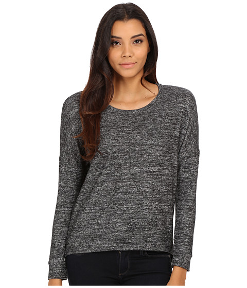 Velvet by Graham & Spencer - Stace Long Sleeve Side Zip Top (Marled) Women
