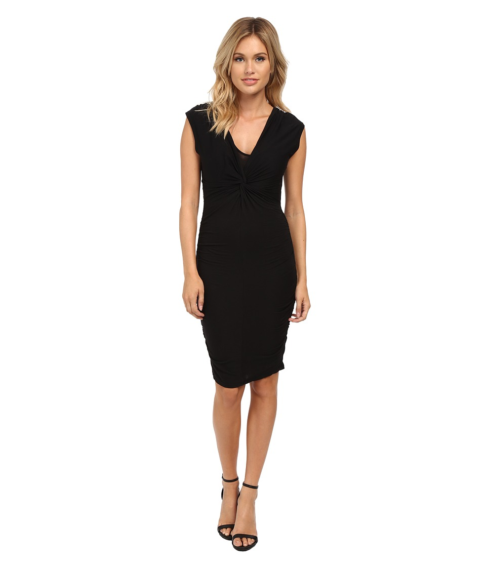 Velvet by Graham & Spencer - Theron Cap Sleeve Dress (Black) Women's Dress
