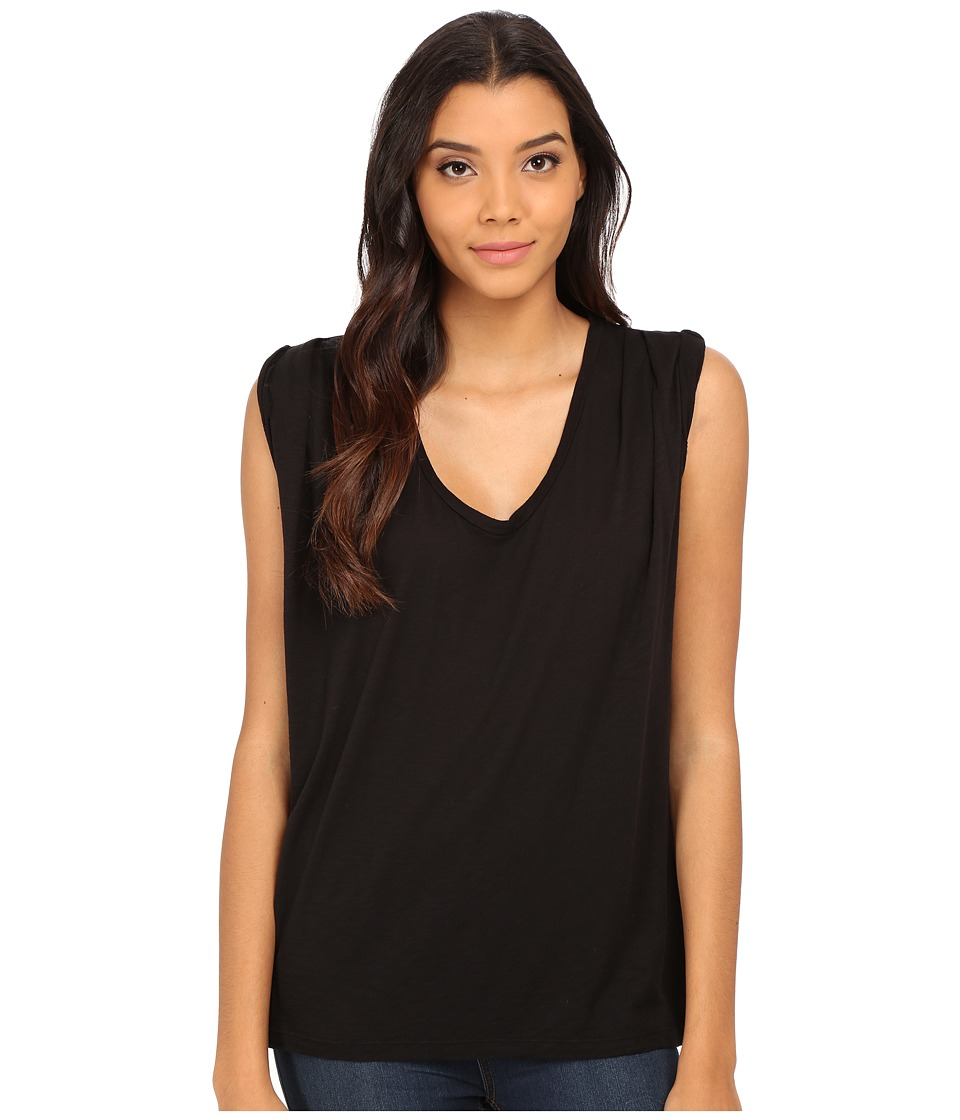 Velvet by Graham & Spencer - Harpa Scoop Tank Top (Black) Women's Sleeveless