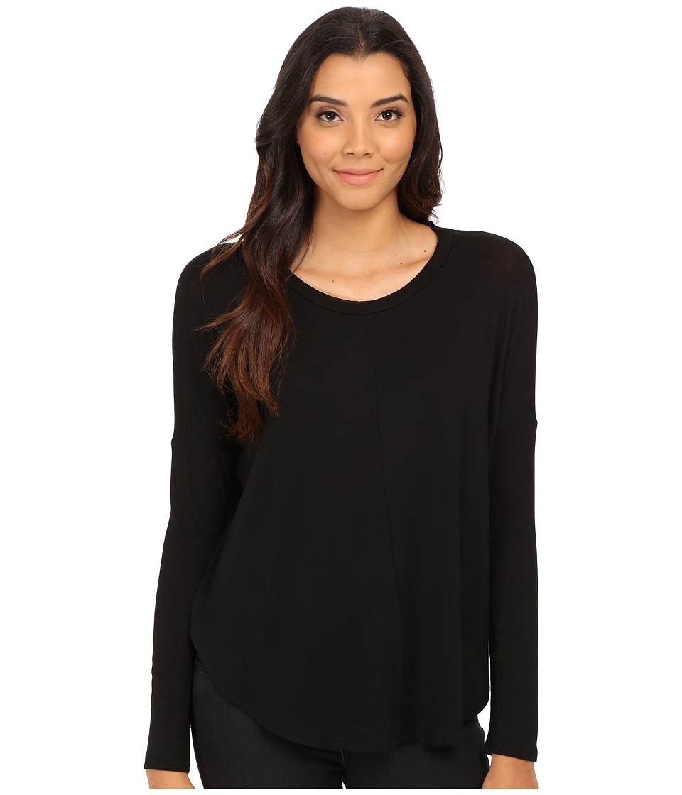 Velvet by Graham & Spencer - Toris Long Sleeve Round Dolman Top (Black) Women's T Shirt