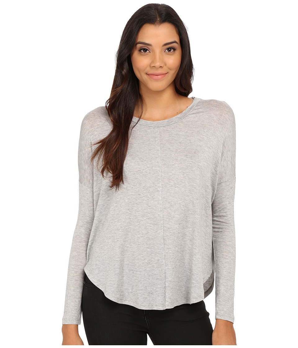 Velvet by Graham & Spencer - Toris Long Sleeve Round Dolman Top (Heather Grey) Women's T Shirt