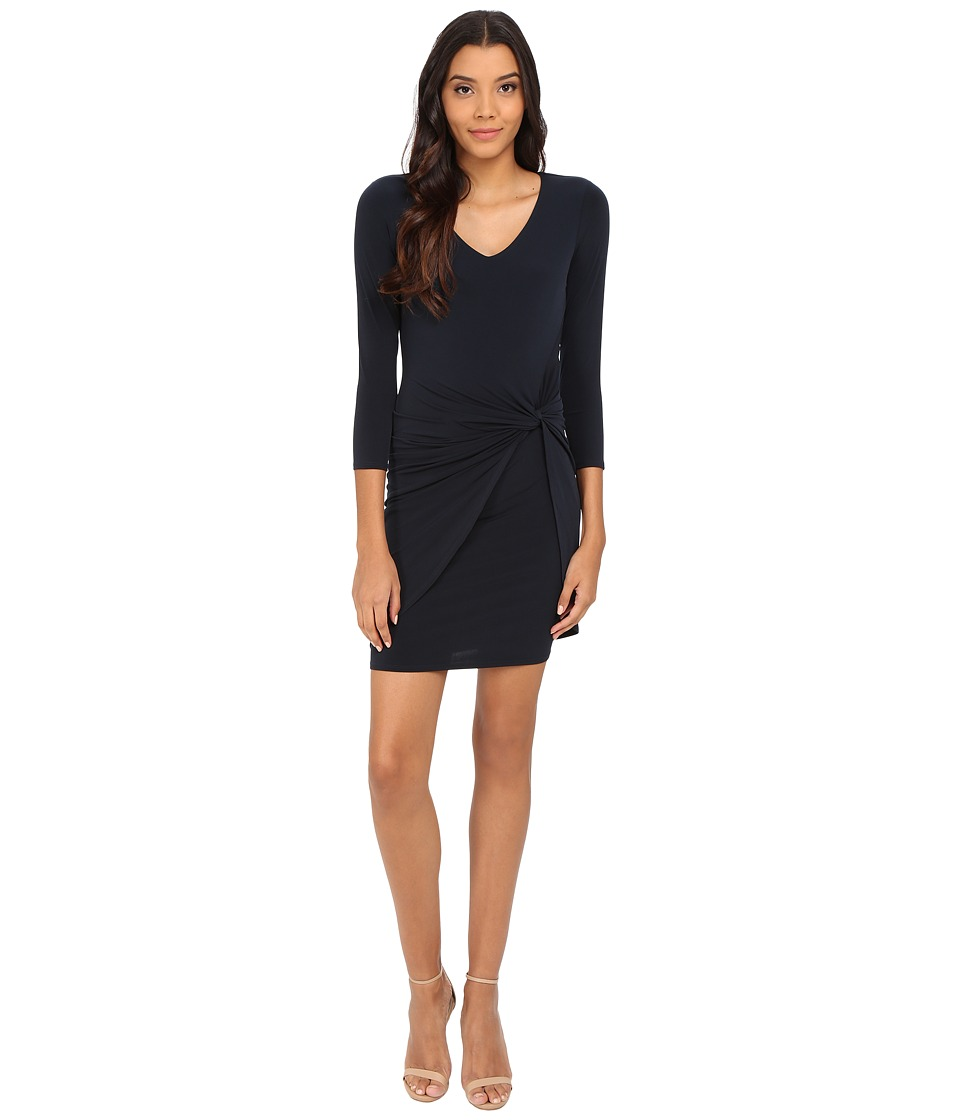 Velvet by Graham & Spencer - Wendolyn Long Sleeve V-Neck Dress (Midnight) Women's Dress