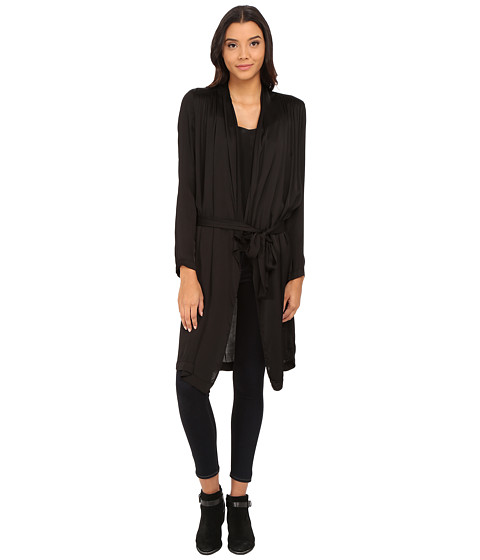 Velvet by Graham & Spencer - Tam Belted Cardi (Black) Women's Sweater