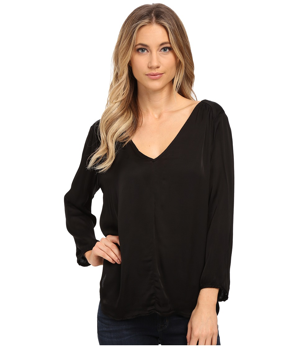 Velvet by Graham & Spencer - Traze 3/4 Sleeve Top (Black) Women's Clothing