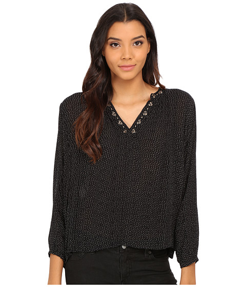 Velvet by Graham & Spencer - Aleta Peasant Top (Black) Women