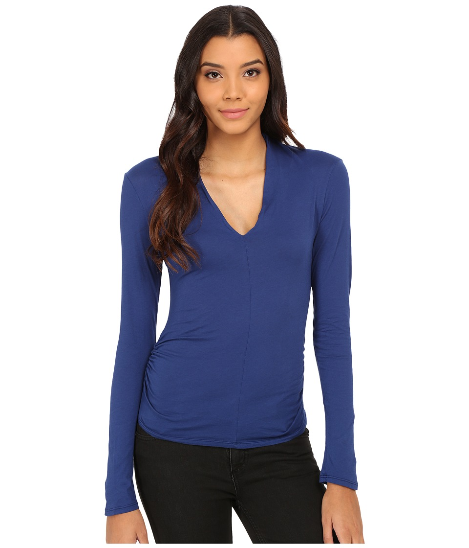 Velvet by Graham & Spencer - Waylyn Long Sleeve V-Neck Top (Bluechip) Women's Clothing