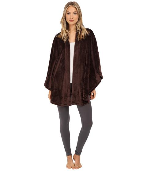 N by Natori - Cashmere Fleece Poncho (Chocolate) Women's Pajama