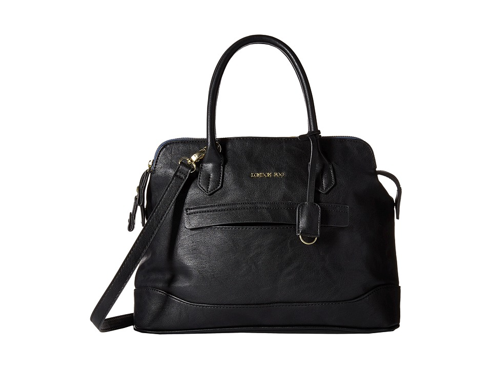London Fog - Preston Triple (Black) Handbags