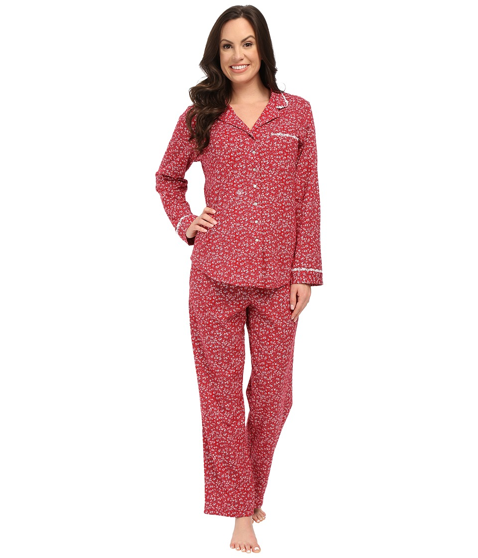 Eileen West - Notch Collar Pajama (Red Multi) Women's Pajama Sets