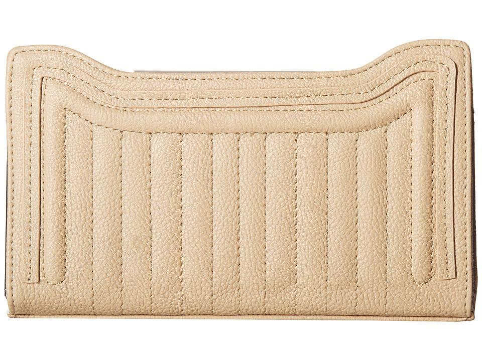 Steve Madden - Quilted Scoop Wallet (Taupe) Wallet Handbags