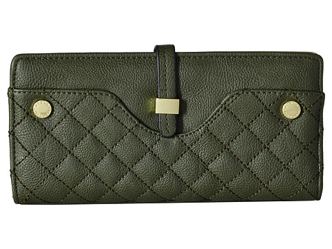 Steve Madden - Hasp Tab Wallet Quilted (Green) Wallet Handbags